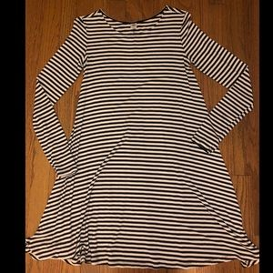 Striped sleeve dress